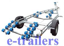 EXTREME 1500kg Super Roller (2 rail) Boat Trailer - 2 Swing Cradle - up to 20ft boats 6.5m Ribs